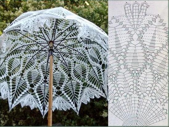 15 Fabuleux Parapluies au crochet avec les diagrammes ...