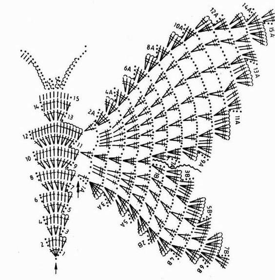 crochet buterflies (20)