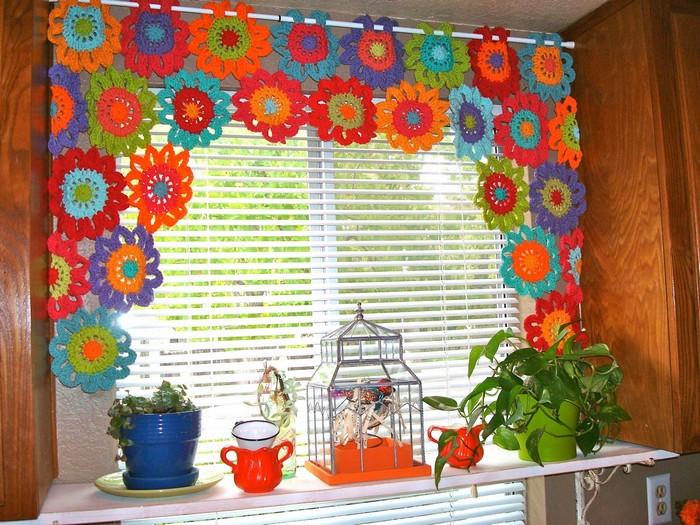 Merveilleux rideaux au crochet - Crochet et plus...Crochet ...