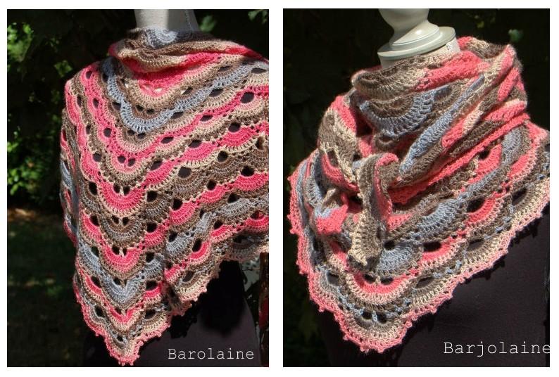 Châle au crochet avec le schéma - Crochet et plus...Crochet et plus… f4182f2aead9