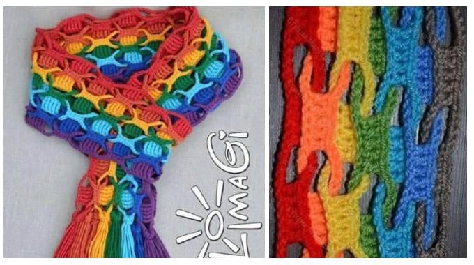 foulard color facile crochet et plus crochet et plus. Black Bedroom Furniture Sets. Home Design Ideas