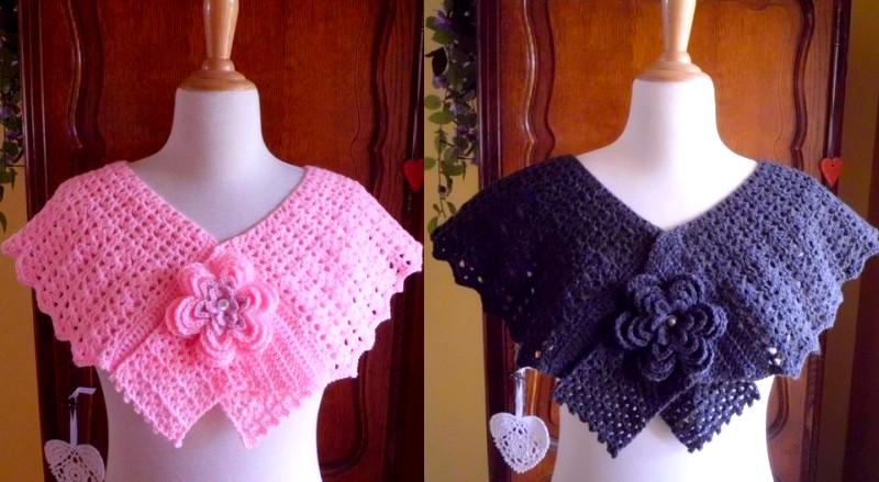pelerines rose et noir