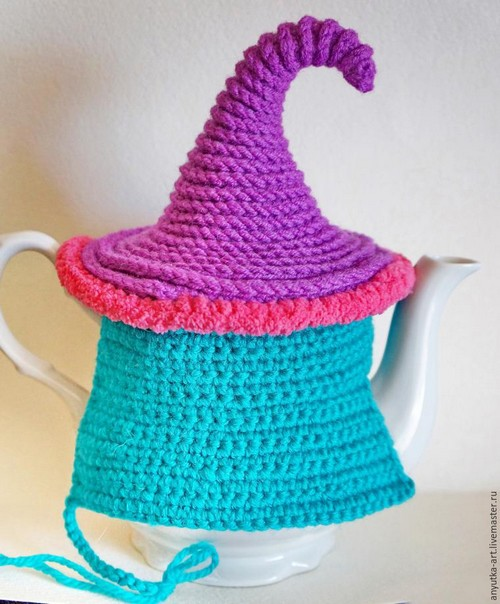 Crocheted Teapot (10)