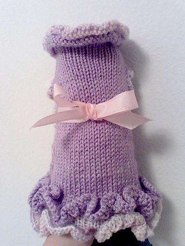 Ruffled Dog Sweater Dress (6)