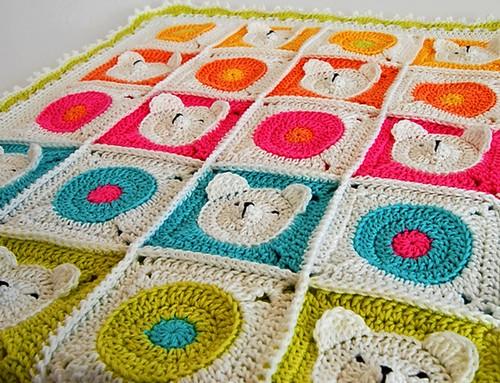 crochet bear blanquet (4)