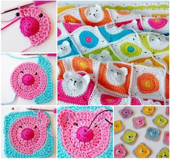 crochet bear blanquet (5)