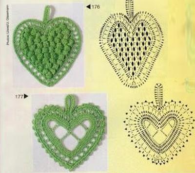 crochet hearts (3)