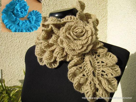 crochet bufandas-tour de cou (11)