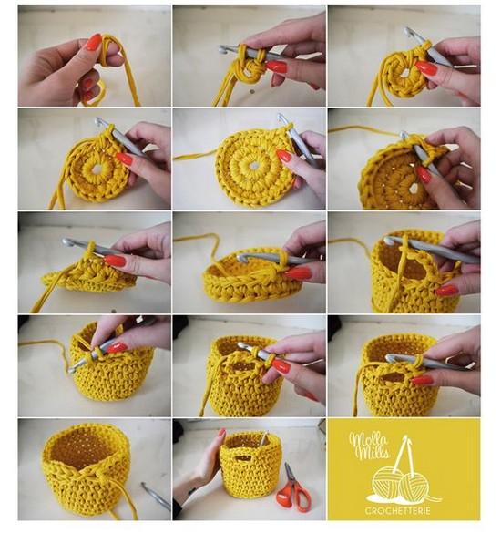 Crochet facile 30 id es tape par tape crochet et - Cosas de trapillo faciles ...