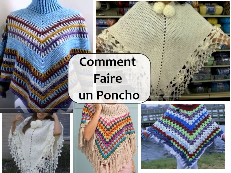 comment faire un poncho en crochet crochet et plus crochet et plus. Black Bedroom Furniture Sets. Home Design Ideas