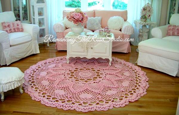 Tapis Romantique Ananas En Crochet Diy Crochet Et Plus