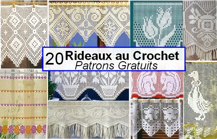rideaux au crochet fait main patrons gratuits crochet et plus crochet et plus. Black Bedroom Furniture Sets. Home Design Ideas