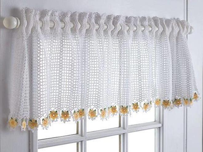 24 patrons des rideaux pour la cuisine en crochet - Cortinas para casa de campo ...