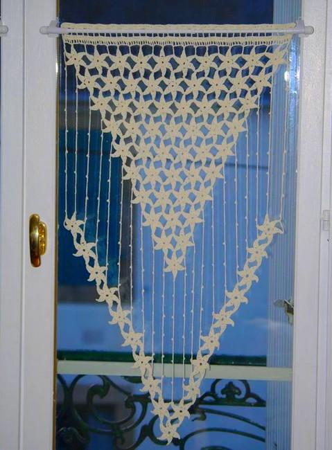 24 patrons des rideaux pour la cuisine en crochet - Tende all uncinetto per finestre ...