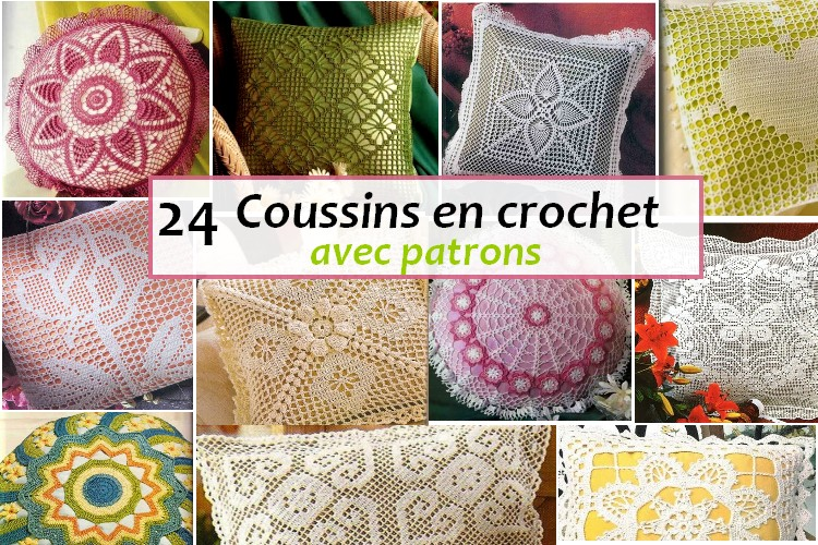 coussins en crochet avec patrons crochet et plus crochet et plus. Black Bedroom Furniture Sets. Home Design Ideas