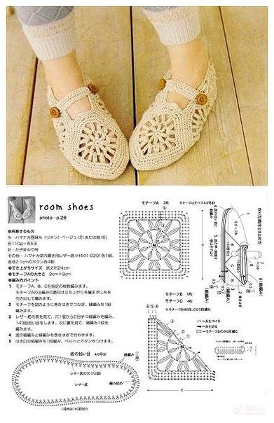 crochet tuto slippers (15)