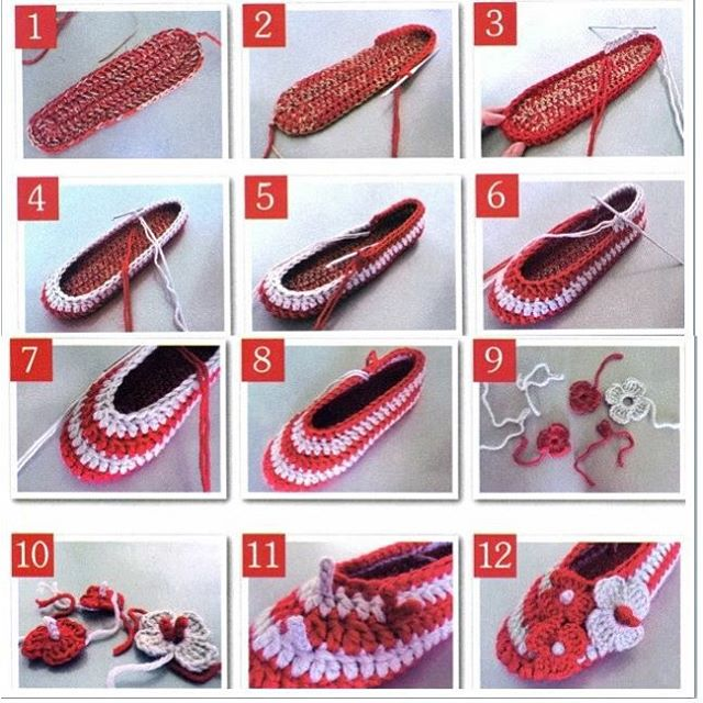 crochet tuto slippers (20)