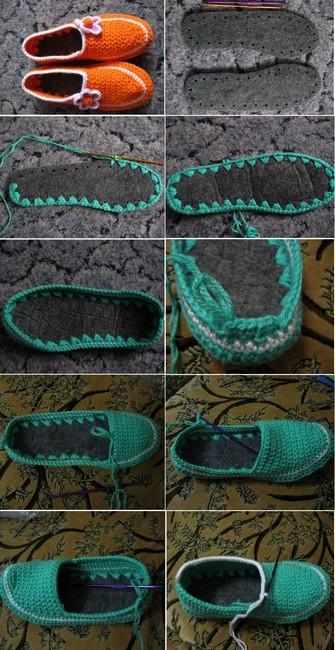 crochet tuto slippers (27)