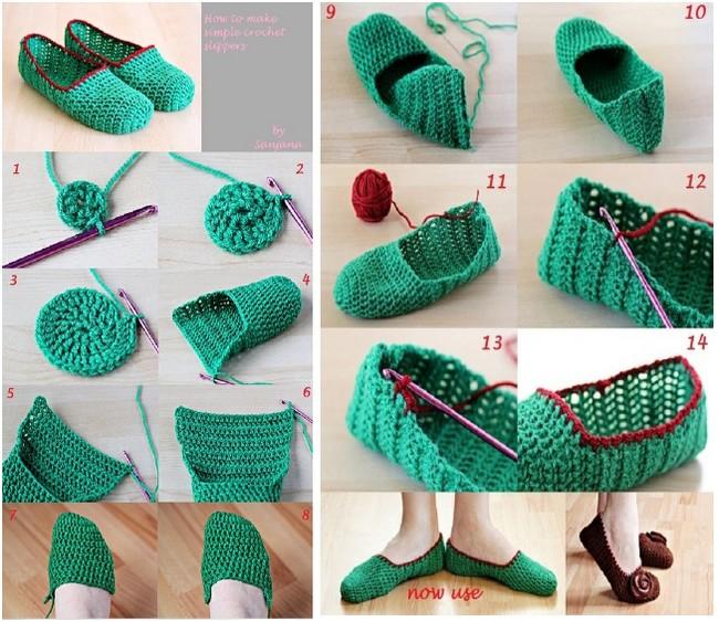 crochet tuto slippers (3)