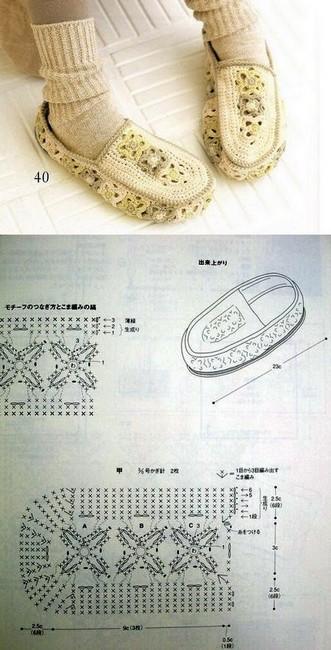 crochet tuto slippers (7)