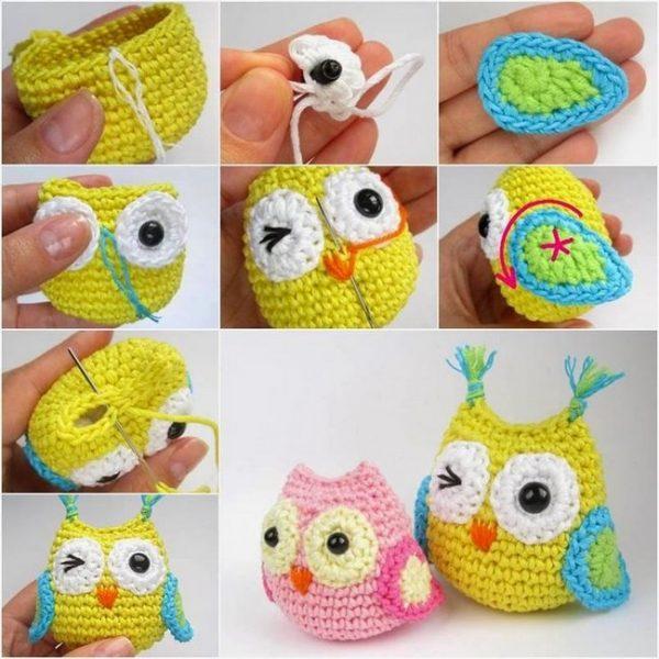Free Crochet Pattern For Owl Baby Blanket : 13 Hiboux en Crochet avec Patrons et etape par etape ...