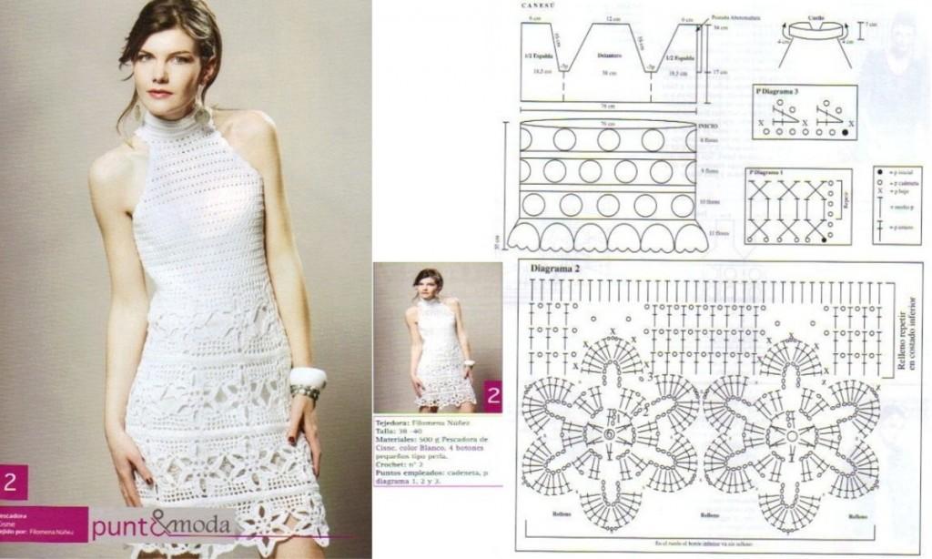 19 robes en crochet avec patrons crochet et plus - Modeles de rideaux au crochet gratuits ...