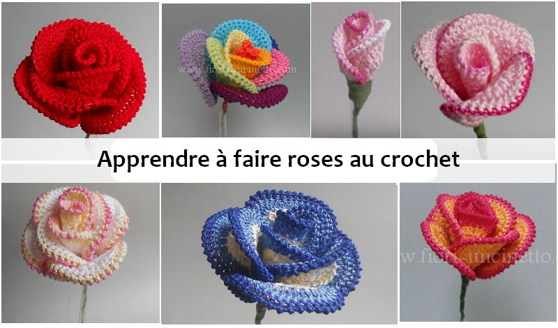 apprendre faire roses au crochet crochet et plus. Black Bedroom Furniture Sets. Home Design Ideas