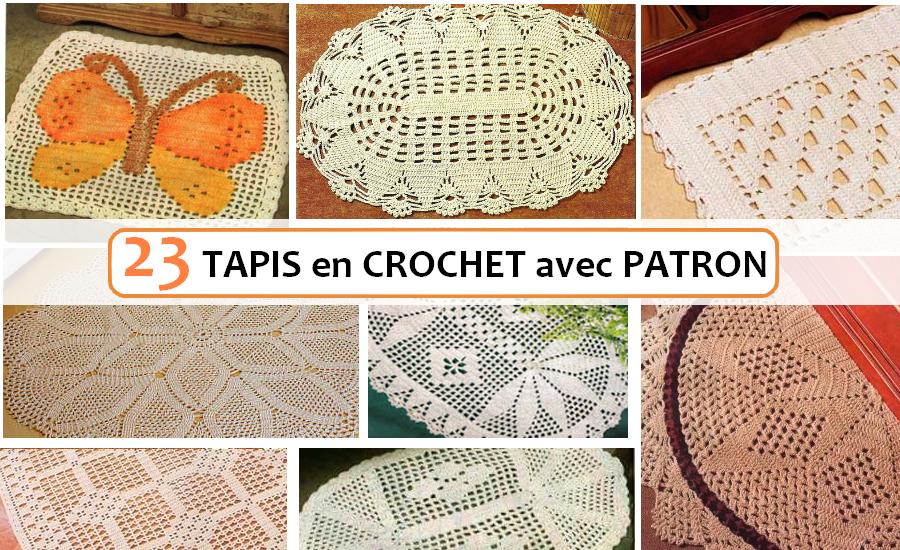 Carrelage Design tapis crochet : 23 Tapis en Crochet avec Patron - Crochet et plus...Crochet et plusu2026