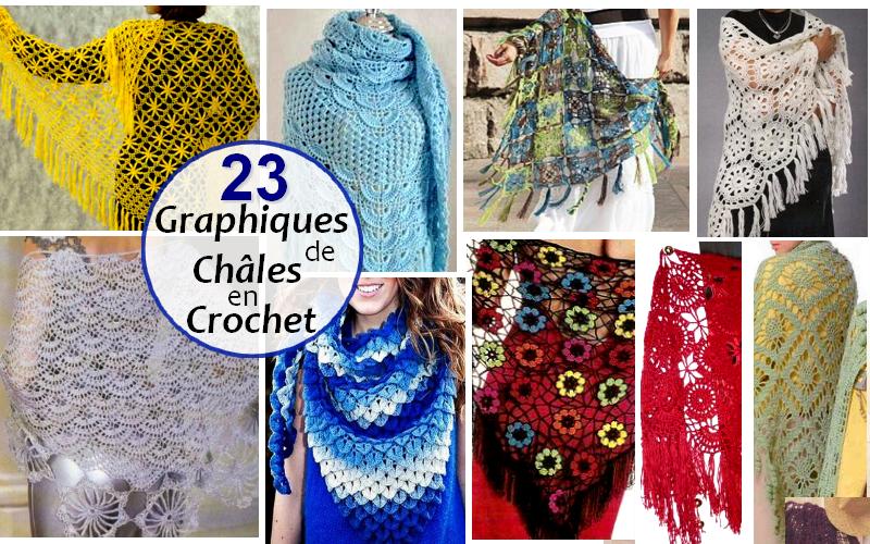 18 Grilles De Chales Au Crochet Crochet Et Plus Crochet Et Plus