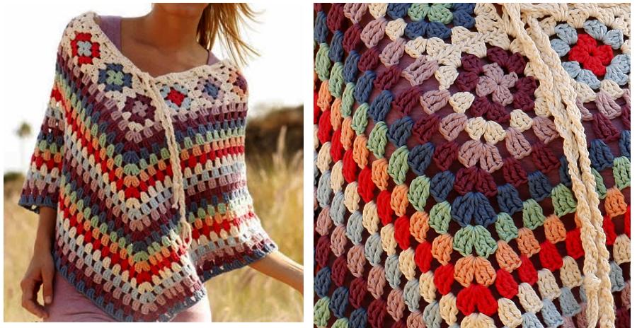 Poncho En Crochet Color 233 Avec Des Explications Crochet