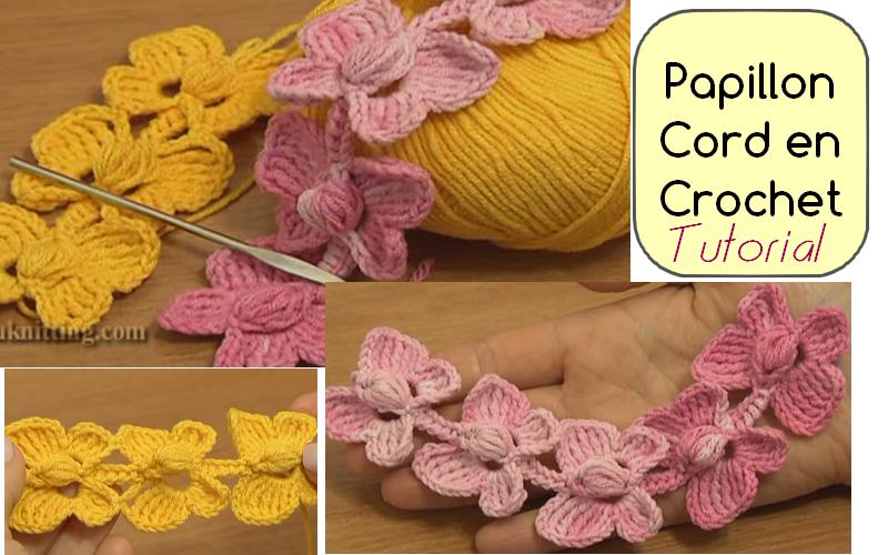 Papillon Cord en Crochet
