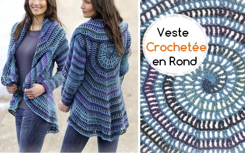 Surprenant Veste Crochetée En Rond Crochet Et Plus