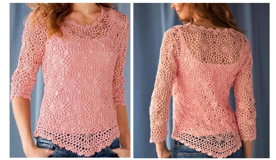 belle-blouse-au-crochet-etape-par-etape