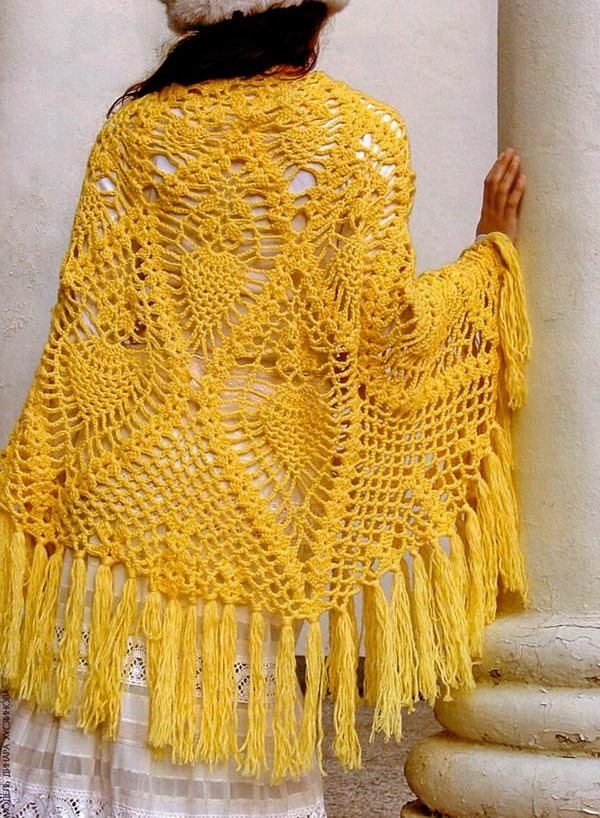 Magnifique Châle au Crochet avec patrons (3)