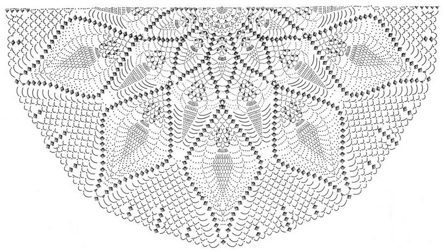 Magnifique Châle au Crochet avec patrons (4)